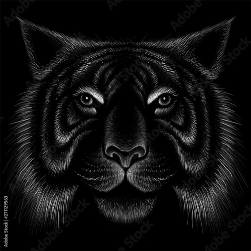 Photo  The Vector logo tiger for tattoo or T-shirt design or outwear