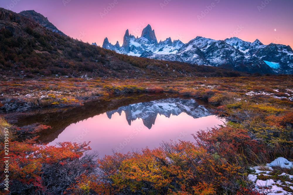 Fototapety, obrazy: Monte Fitz Roy in sunset