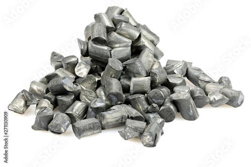 Fotografie, Obraz  99.9% fine lithium isolated on white background