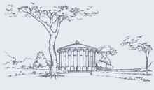 Palace Park. Vector Drawing