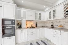 Modern White Wooden Kitchen In...