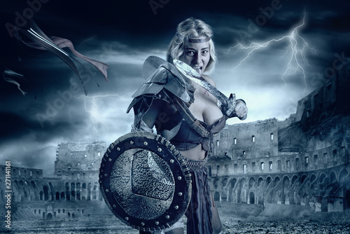 woman-gladiator-in-the-arena