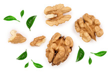Peelled Walnuts Isolated On Wh...