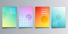 Set Of Colorful Gradient Cover With Circles For Flyer, Poster, Brochure, Typography Or Other Printing Products