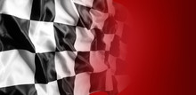 Checkered Flag On Red