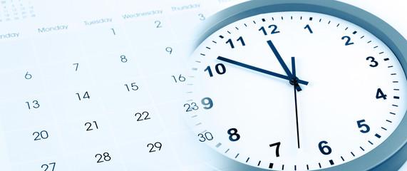 FototapetaClock and calendar