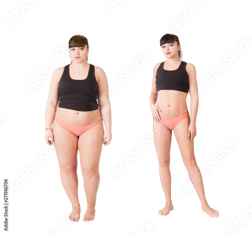 before and after losing weight Wallpaper Mural