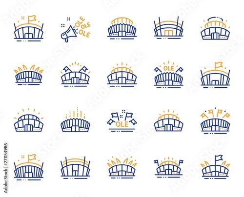Leinwand Poster Sports stadium line icons