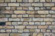 old shabby light brick wall