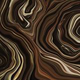 Streszczenie marmur wiruje w tle - Płynny efekt marmurkowy z subtelnymi złotymi akcentami - 271166140