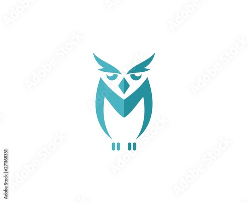 Tuinposter Uilen cartoon Owl logo