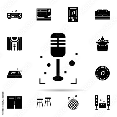 Karaoke, sing, microphone icon  Universal set of karaoke for