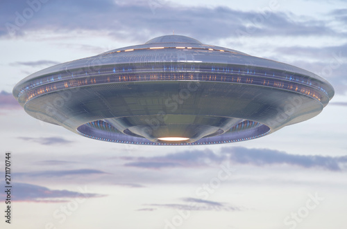 Fototapety, obrazy: Unidentified Flying Object Sky Clipping Path