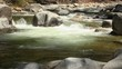 Looping Seamless Cinemagraph of Flowing Mountain River