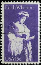 Edith Wharton On Vintage American Postage Stamp