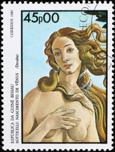 Venus By Botticelli On Stamp O...