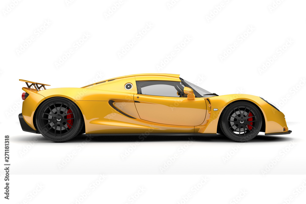 Fototapety, obrazy: 3d render of beautiful sport car