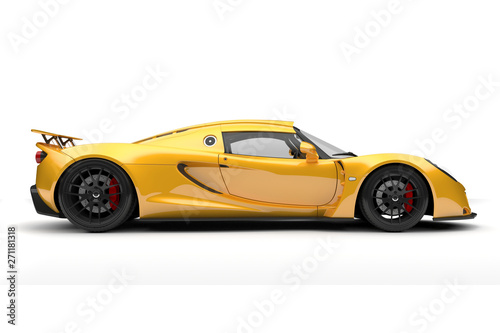 Leinwand Poster 3d render of beautiful sport car