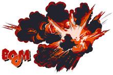 Explosions. Stock Illustration.
