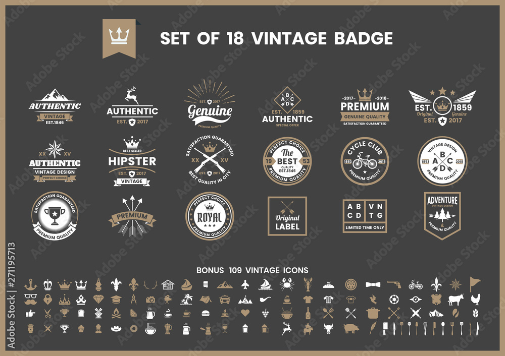 Fototapeta Vintage Retro Vector for banner