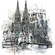 canvas print picture - Köln Collage