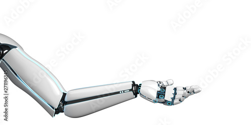 Fotografie, Obraz  Roboter Arm Welcome