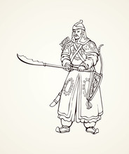 Vector Drawing Of Chinese Warr...