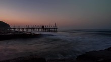 Beautiful Sunrise Over Long Jetty At The Seascape.