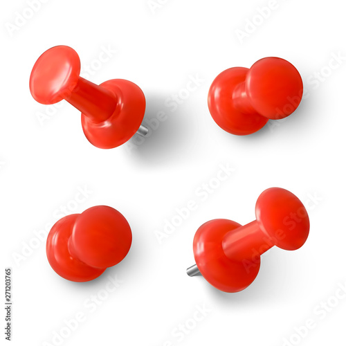 Obraz na plátně Red push pin 3D