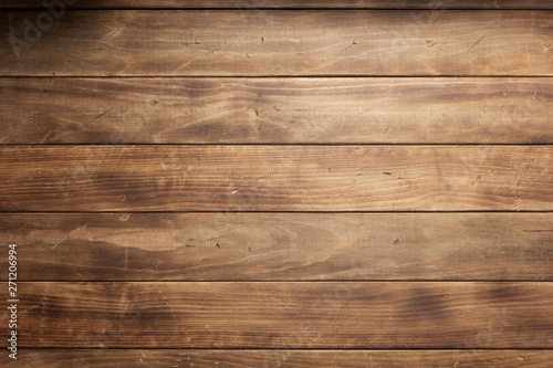 Foto auf Leinwand Holz wooden background board table texture