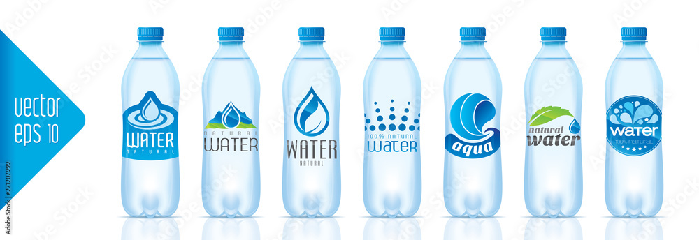 Fototapeta Ready design water bottle set
