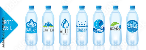 Fotografia, Obraz  Ready design water bottle set