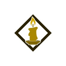 Burning Candle Icon, Candle Logo