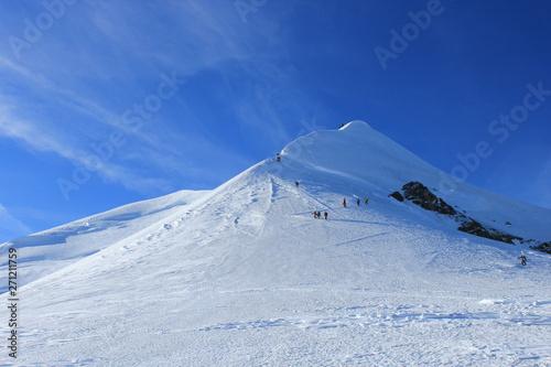 Mont Blanc par l'arête des Bosses Canvas-taulu