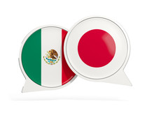 Flags Of Mexico And Japan Insi...