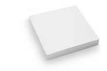 White Sticky Note Pad On Isolated