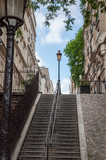 Fototapeta Fototapety na drzwi - Stairs in the famous streets of Montmartre in Paris - Paris, France