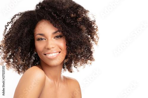 Fototapeta  Beauty portrait of afro woman.