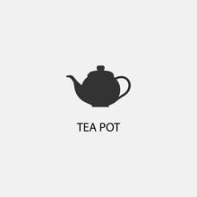 Tea Pot Vector Icon Illustrati...