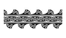 Tattoo Tribal Maori Pattern Bracelet, Polynesian Ornamental  Border Design Seamless Vector