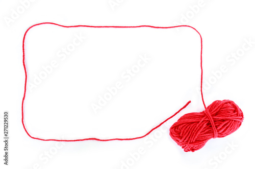 border yarn color red on white background.