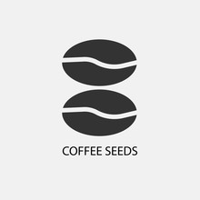 Coffee Seeds Vector Icon Illus...