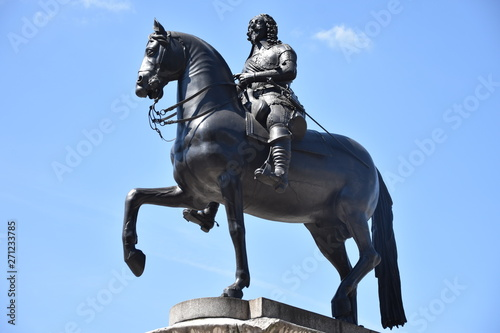 Statue of King Charles I in London in UK Wallpaper Mural