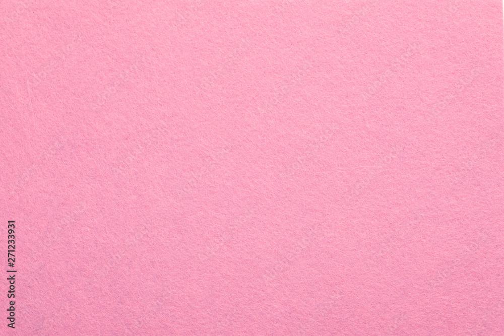 Fototapety, obrazy: Sweet pink felt texture abstract art background. Colored fabric fibers surface. Empty space.