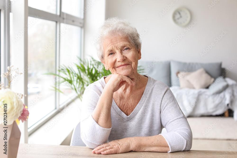 Fototapety, obrazy: Portrait of senior woman at home