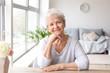 canvas print picture - Portrait of senior woman at home