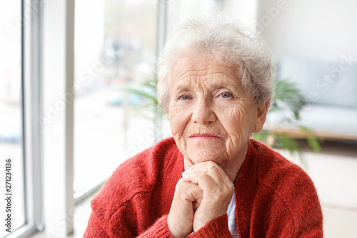 Pinturas sobre lienzo  Portrait of senior woman at home