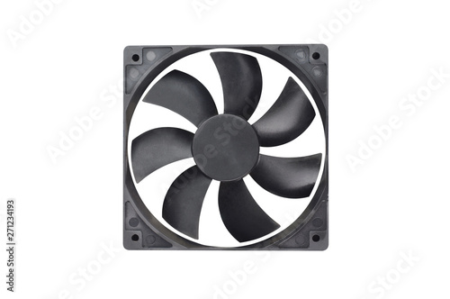 One black plastic fan for desktop computer or notebook for cooling processor and Canvas-taulu