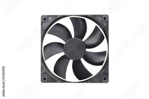 One black plastic fan for desktop computer or notebook for cooling processor and Fotobehang