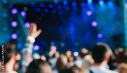 Crowd at concert. Blurred and defocused - 271236921